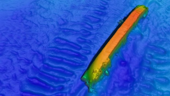 3D image of tanker sunk by U-boat off Anglesey