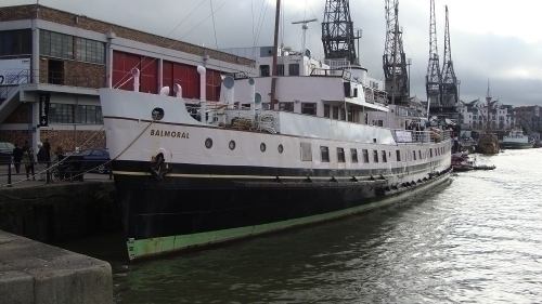 MV Balmoral moored outside M Shed
